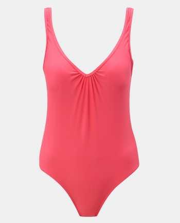 Růžové jednodílné plavky Pieces