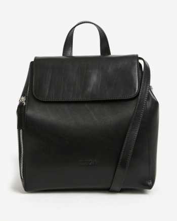 Černý dámský kožený batoh ELEGA Shirah