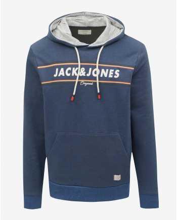 Tmavě modrá žíhaná mikina Jack & Jones Tuco