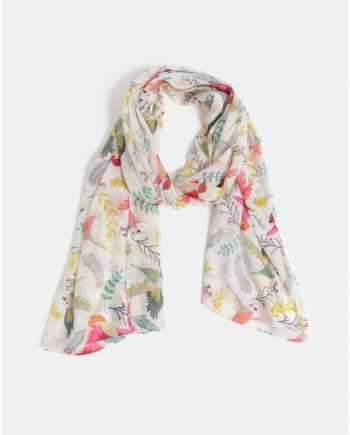 Růžovo-krémový vzorovaný šátek Pieces Sanny