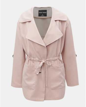 Světle růžový krátký kabát TALLY WEiJL Pedarrell