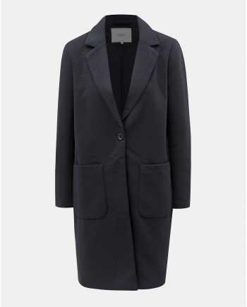 Tmavě modrý žebrovaný kabát ONLY Lastrid