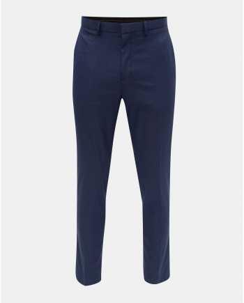 Modré kostkované skinny fit kalhoty Burton Menswear London