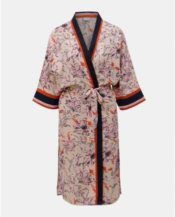 Růžové květované kimono Jacqueline de Yong Adira