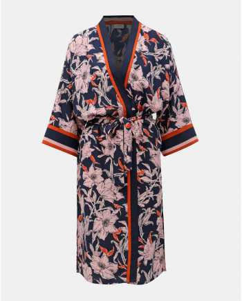 Tmavě modré květované kimono Jacqueline de Yong Adira