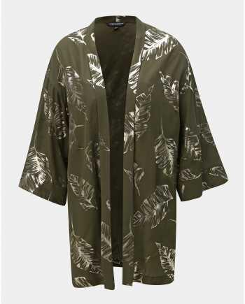 Tmavě zelené kimono s potiskem Dorothy Perkins