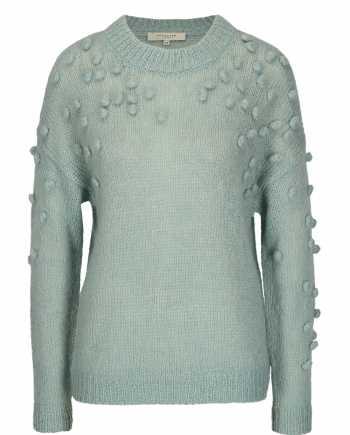 Mentolový svetr s příměsí mohéru Selected Femme Nora