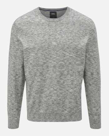 Šedý žíhaný basic svetr Burton Menswear London