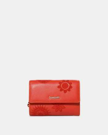 Červená vzorovaná peněženka Desigual Dark Amber Alba