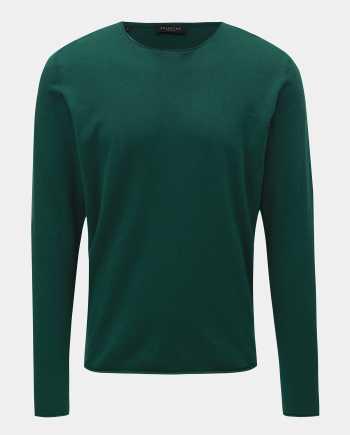 Zelený basic svetr s příměsí hedvábí Selected Homme Dome