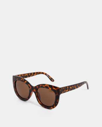 Hnědé vzorované sluneční brýle Pieces Erika