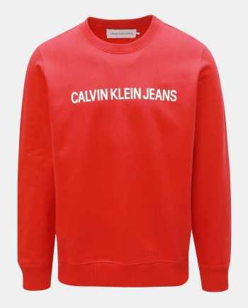 Červená pánská mikina Calvin Klein Jeans