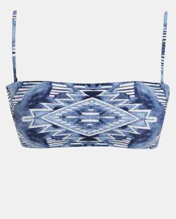 Modrý dámský vzorovaný horní díl plavek Rip Curl