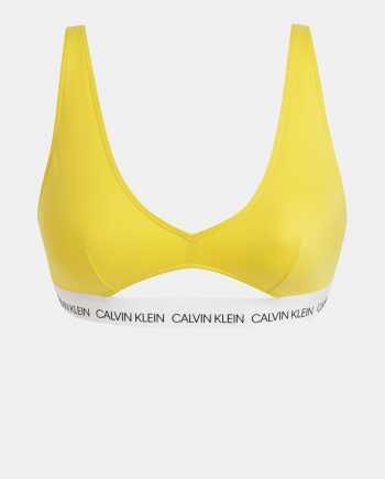 Žlutý dámský horní díl plavek Calvin Klein Underwear