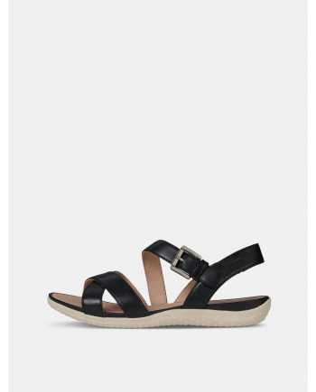 Černé dámské kožené sandály Geox Lea