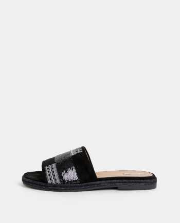 Černé dámské semišové pantofle Geox Kolleen