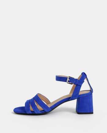 Modré dámské semišové sandály Geox Seyla