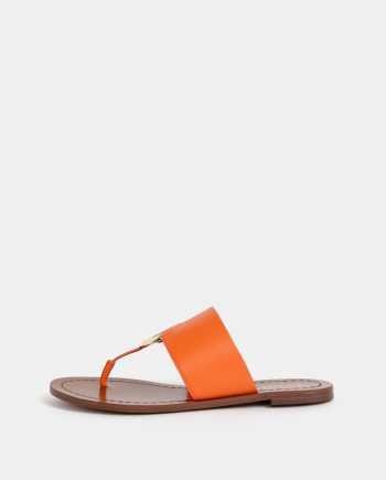 Oranžové dámské kožené žabky ALDO Ocericia