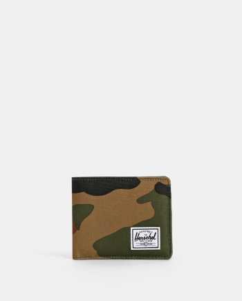 Khaki pánská maskáčová peněženka Herschel Supply Roy