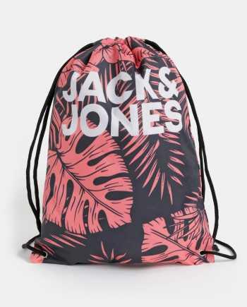 Červeno-černý květovaný vak Jack & Jones Summer