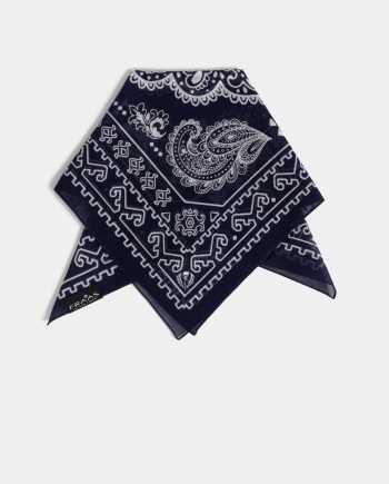 Tmavě modrý dámský vzorovaný šátek Fraas