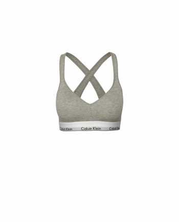 Šedá podprsenka se širokým spodním lemem Calvin Klein Underwear