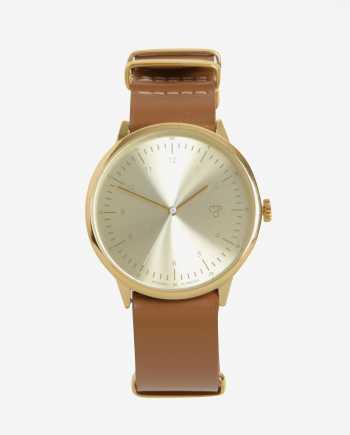 Dámské hodinky s hnědým koženým páskem CHPO Harold