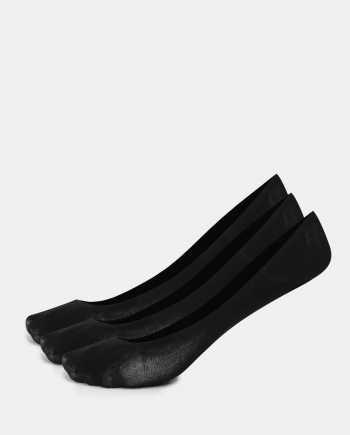Sada tří párů černých nízkých ponožek Bellinda