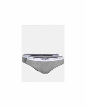 Sada dvou šedých kalhotek Calvin Klein Underwear