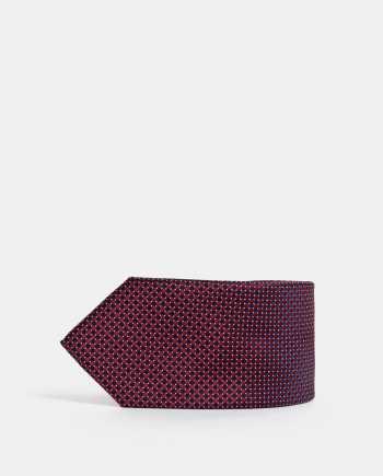Vínová vzorovaná kravata Jack & Jones Troy