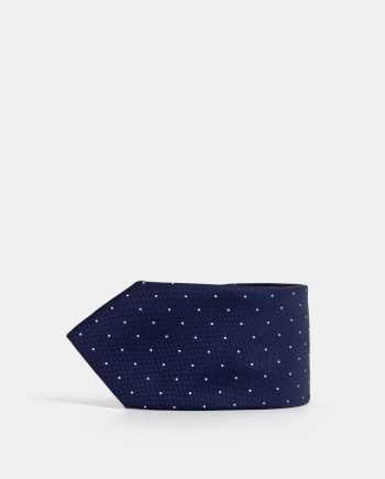 Tmavě modrá puntíkovaná kravata Jack & Jones Troy