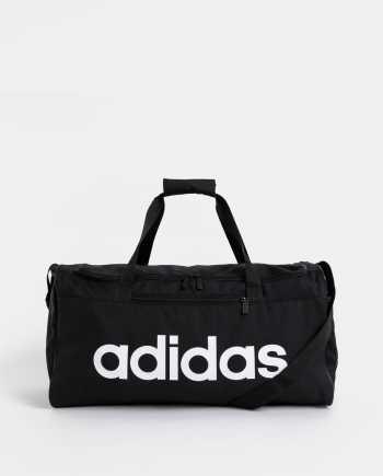 Černá sportovní taška s potiskem adidas CORE 41