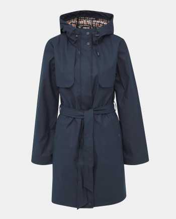 Tmavě modrý voděodolný kabát Dorothy Perkins