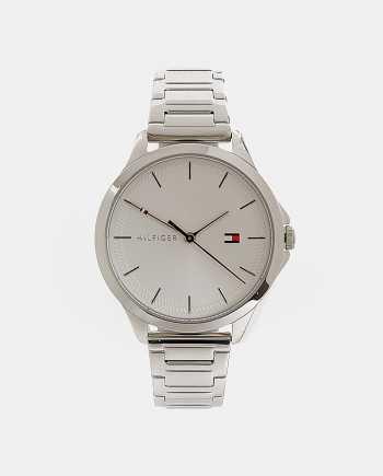 Dámské hodinky s nerezovým páskem ve stříbrné barvě Tommy Hilfiger