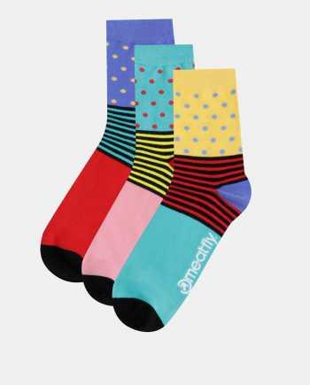 Sada tří párů dámských ponožek v zelené