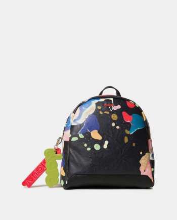 Černý vzorovaný batoh Desigual Cooper Venice