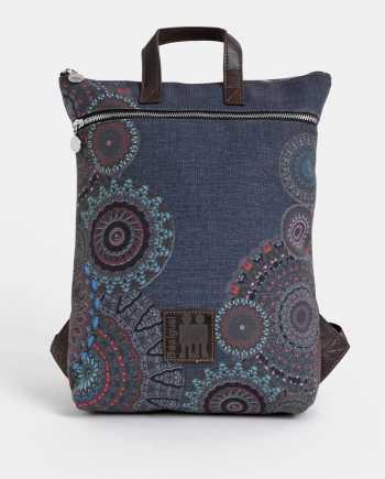 Tmavě modrý vzorovaný batoh Desigual Arty