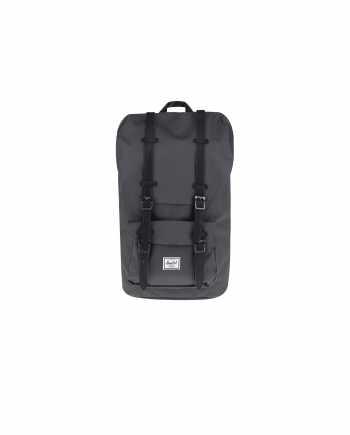 Tmavě šedý batoh s černými popruhy Herschel Supply Little America  25 l
