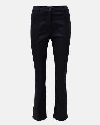 Tmavě modré kalhoty s vysokým pasem ELVI