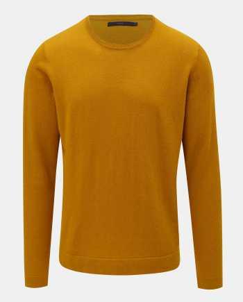 Žlutý vlněný basic svetr SUIT Clyde