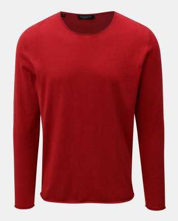 Červený lehký basic svetr Selected Homme Dome