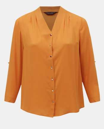 Oranžová halenka Dorothy Perkins Curve