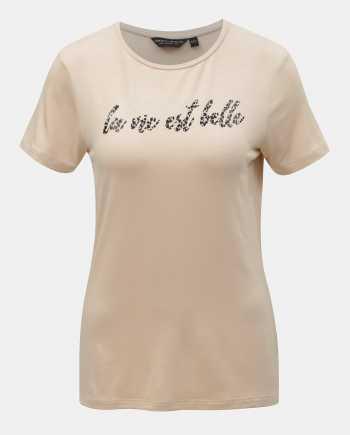 Béžové tričko s potiskem Dorothy Perkins