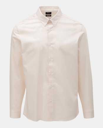 Světle růžová formální skinny fit košile Burton Menswear London