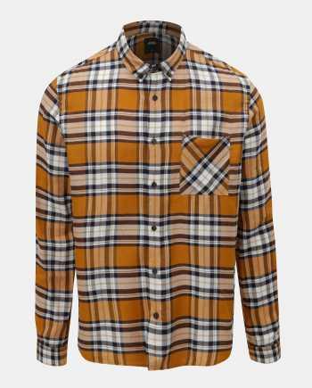 Modro-hnědá kostkovaná košile Burton Menswear London