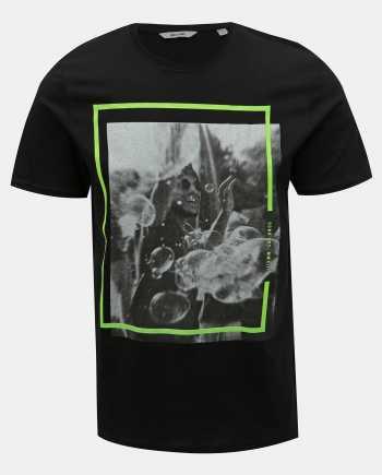 Černé tričko s potiskem ONLY & SONS Petal