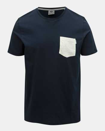 Tmavě modré slim fit tričko s kapsou Jack & Jones Boston