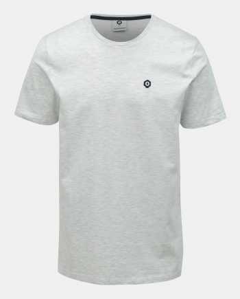 Světle šedé žíhané slim fit tričko Jack & Jones Boston