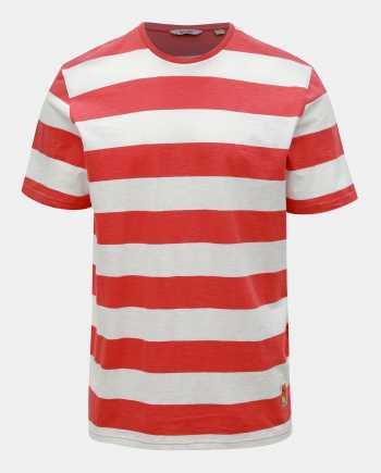 Bílo-červené pruhované basic tričko ONLY & SONS Patterson