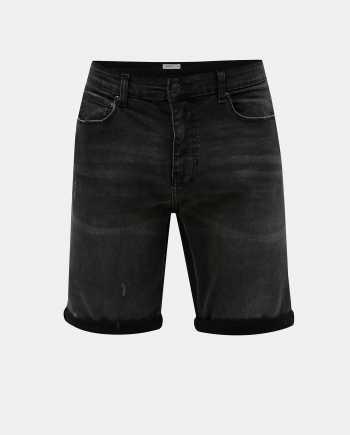 Tmavě šedé džínové kraťasy Burton Menswear London